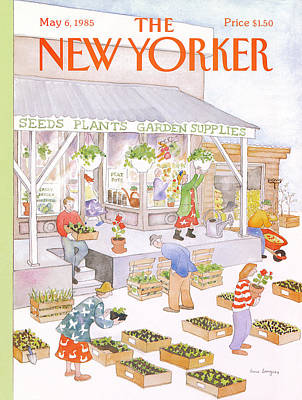Spring Painting - New Yorker May 6th, 1985 by Anne Burgess