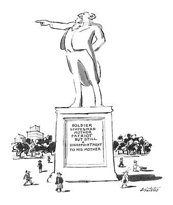 Statesmen Drawing - New Yorker May 7th, 1984 by Mischa Richter