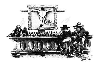 Old West Saloon Drawing - New Yorker May 7th, 1990 by Eldon Dedini