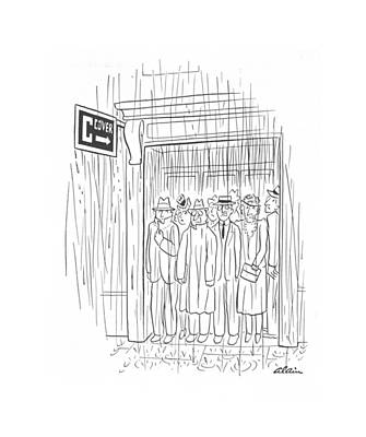 Doorway Drawing - New Yorker May 8th, 1943 by  Alain