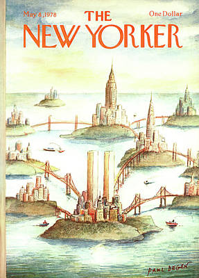 Connect Painting - New Yorker May 8th, 1978 by Paul Degen