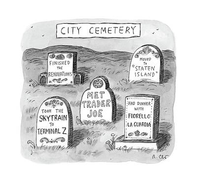 Landscape Drawing - New Yorker May 8th, 2017 by Roz Chast