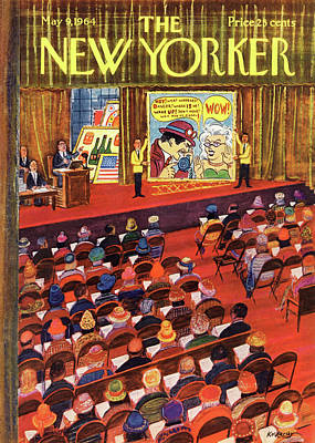Roy Painting - New Yorker May 9th, 1964 by Anatol Kovarsky