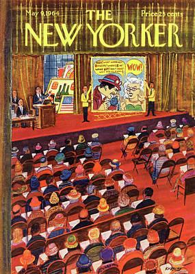 New Yorker May 9th, 1964 Art Print by Anatol Kovarsky