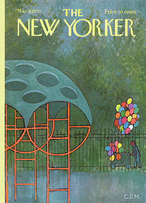 Playground Painting - New Yorker May 9th, 1970 by Charles E Martin