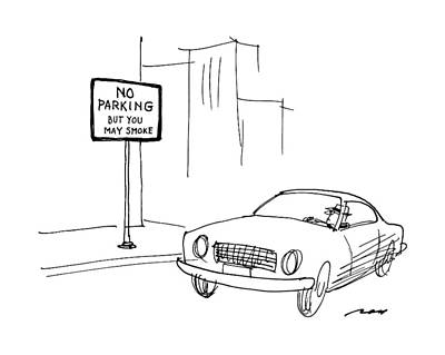 Parking Drawing - New Yorker May 9th, 1988 by Al Ross