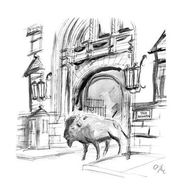 Buffalo Drawing - New Yorker May 9th, 1988 by Everett Opie
