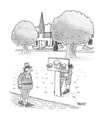 Dismay Drawing - New Yorker May 9th, 1988 by Jack Ziegler