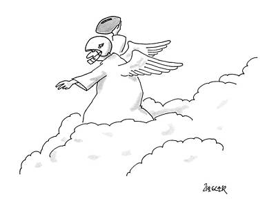 Angel Drawing - New Yorker November 10th, 1986 by Jack Ziegler