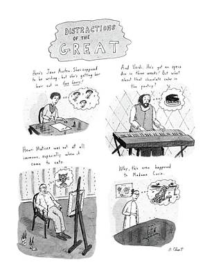 History Drawing - New Yorker November 10th, 1986 by Roz Chast