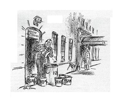 Emptying Drawing - New Yorker November 11th, 1944 by Alan Dunn