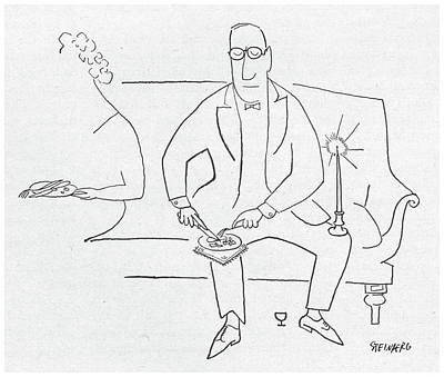 New Yorker November 11th, 1950 Art Print by Saul Steinberg