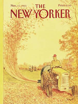 New Yorker November 11th, 1985 Art Print by Charles Saxon