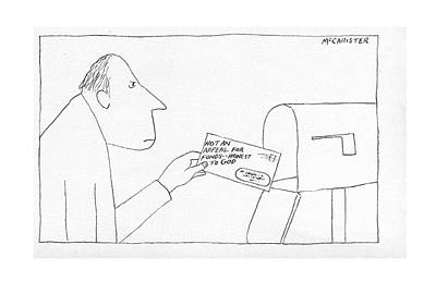 Mailman Drawing - New Yorker November 12th, 1973 by Richard McCallister