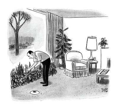 Golf Drawing - New Yorker November 14th, 1964 by Robert J. Day