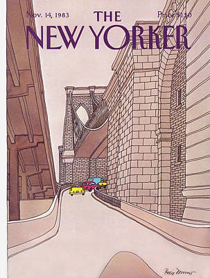 Brooklyn Bridge Painting - New Yorker November 14th, 1983 by Roxie Munro
