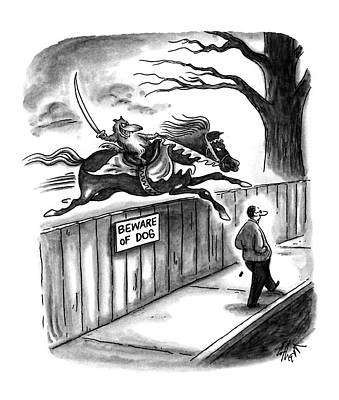 Catch Drawing - New Yorker November 14th, 1994 by Frank Cotham