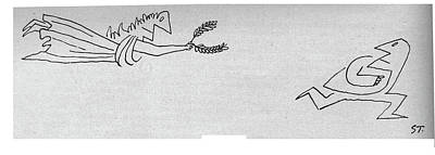 Wreath Drawing - New Yorker November 15th, 1958 by Saul Steinberg