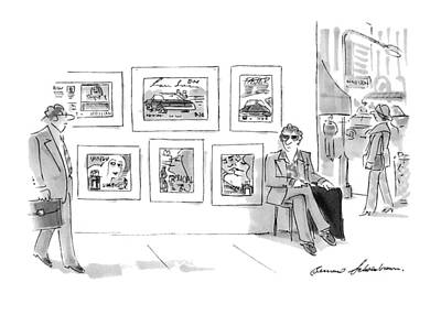 Tin Cup Drawing - New Yorker November 15th, 1993 by Bernard Schoenbaum