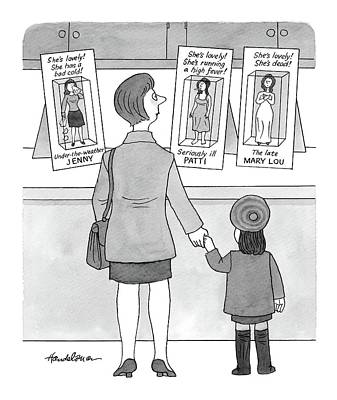 Doll Drawing - New Yorker November 15th, 1999 by J.B. Handelsman