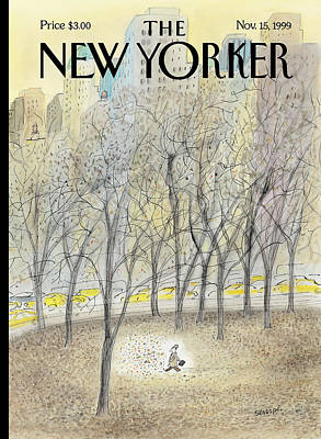 Autumn Painting - New Yorker November 15th, 1999 by Jean-Jacques Sempe