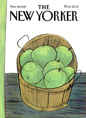 Autumn Painting - New Yorker November 16th, 1981 by Donald Reilly