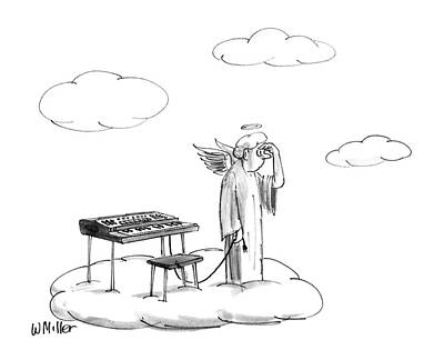Angels Drawing - New Yorker November 16th, 1987 by Warren Miller