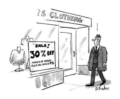 Consumerism Drawing - New Yorker November 16th, 1992 by Dana Fradon