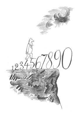 Mathematics Drawing - New Yorker November 17th, 1962 by Saul Steinberg