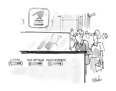 Missouri Drawing - New Yorker November 17th, 1986 by Dana Fradon