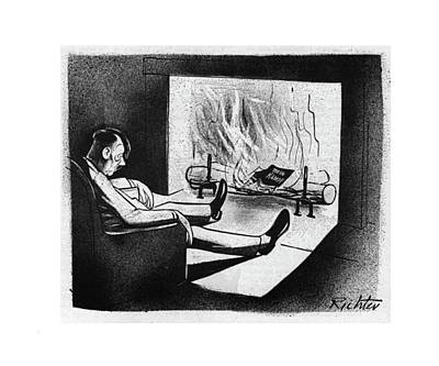 Author Drawing - New Yorker November 18th, 1944 by Mischa Richter