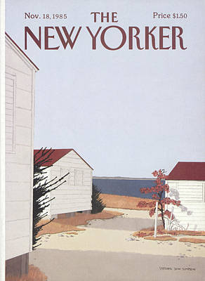 Red Roof Painting - New Yorker November 18th, 1985 by Gretchen Dow Simpson