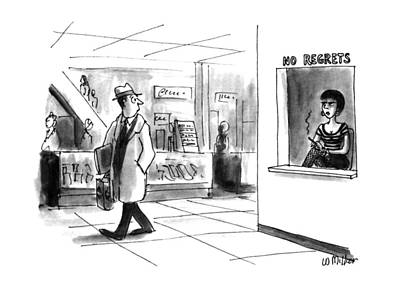 Prostitutes Drawing - New Yorker November 18th, 1991 by Warren Miller
