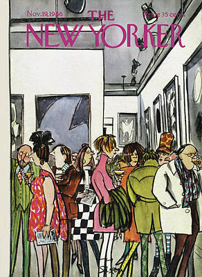 Museums Painting - New Yorker November 19th, 1966 by Charles Saxon