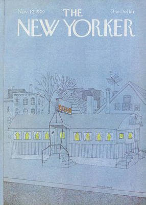 Night Painting - New Yorker November 19th, 1979 by Marisabina Russo
