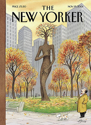 Autumn Painting - New Yorker November 19th, 2001 by Harry Bliss