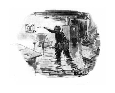 Plumbers Drawing - New Yorker November 1st, 1941 by Perry Barlow