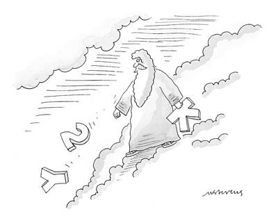 Zeus Drawing - New Yorker November 1st, 1999 by Mick Stevens