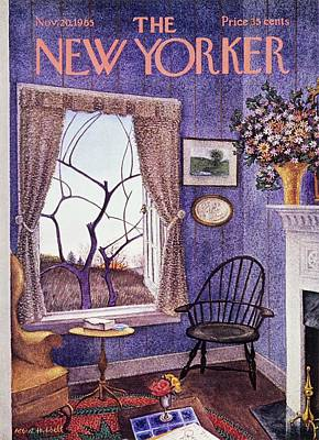 Autumn Painting - New Yorker November 20th 1965 by Albert Hubbell