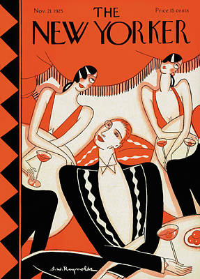 Drink Painting - New Yorker November 21st, 1925 by Stanley W Reynolds