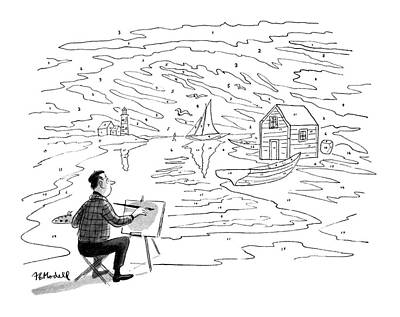 New Artist Drawing - New Yorker November 21st, 1953 by Frank Modell