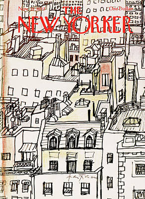 Tenements Painting - New Yorker November 21st, 1977 by Andre Francois
