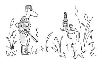 Glass Of Wine Drawing - New Yorker November 21st, 1994 by Arnie Levin
