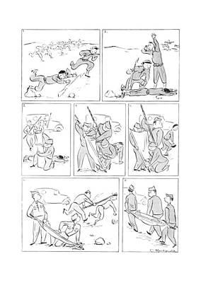 Pole Drawing - New Yorker November 22nd, 1941 by Roberta Macdonald