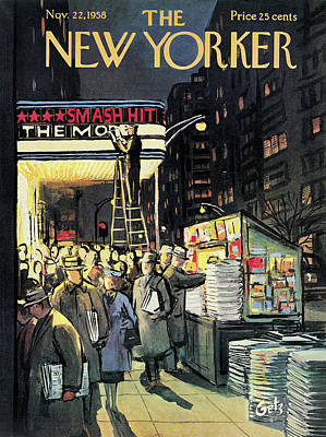 Arthur Getz Painting - New Yorker November 22nd, 1958 by Arthur Getz