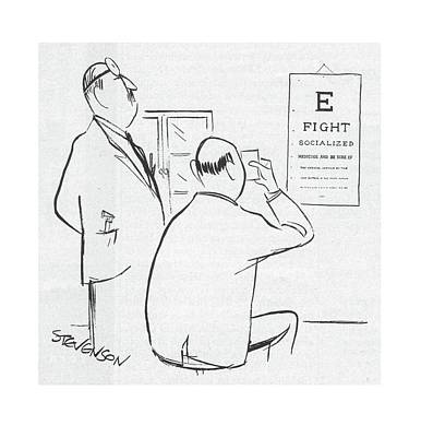 Optometrists Drawing - New Yorker November 22nd, 1958 by James Stevenson
