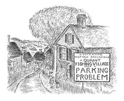 New England Drawing - New Yorker November 22nd, 1999 by Edward Koren