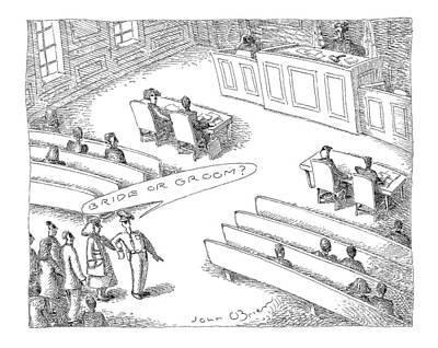 Person Drawing - New Yorker November 22nd, 1999 by John O'Brien
