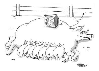 New Yorker November 22nd, 1999 Art Print by Peter Steiner