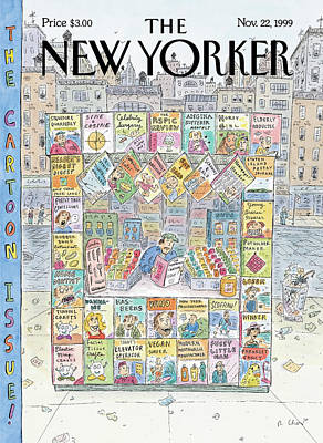 Newspaper Painting - New Yorker November 22nd, 1999 by Roz Chast